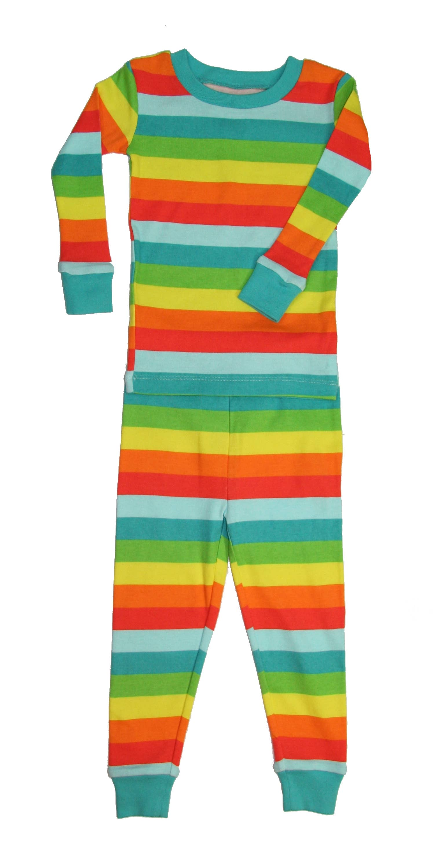 Rainbow Stripes- Organic Cotton Long PJ Set