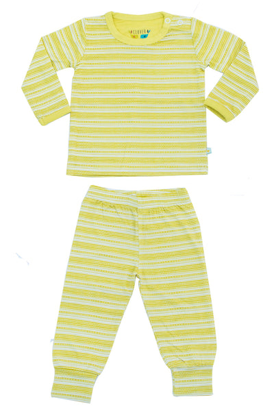 Chartreuse Stripes 2 pc. Top/Bottom Set