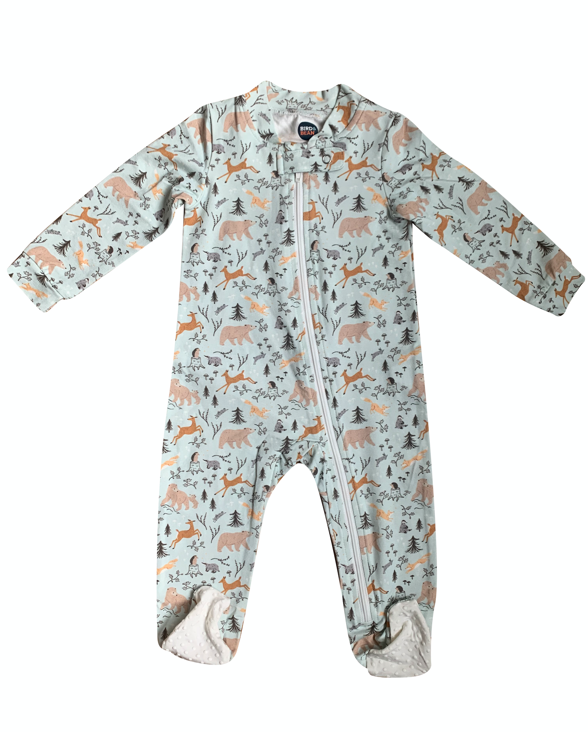 Forest Friends Zip Up Romper