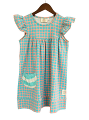 flutter sleeve dress with pocket - polka dot