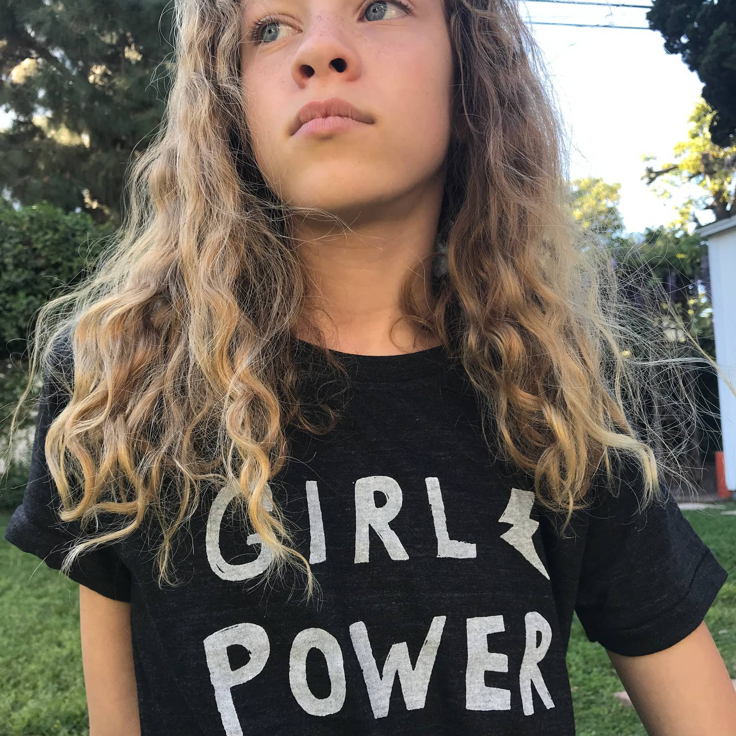 Girl Power - Triblend black tee