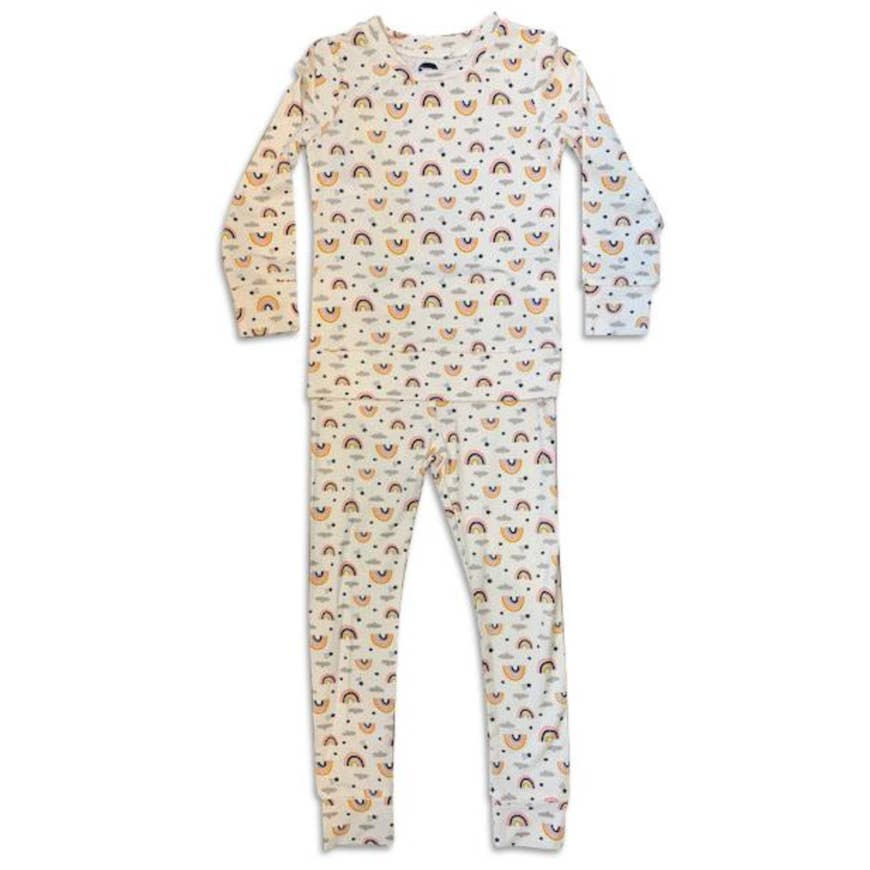 rainbow 2 pc pajama set