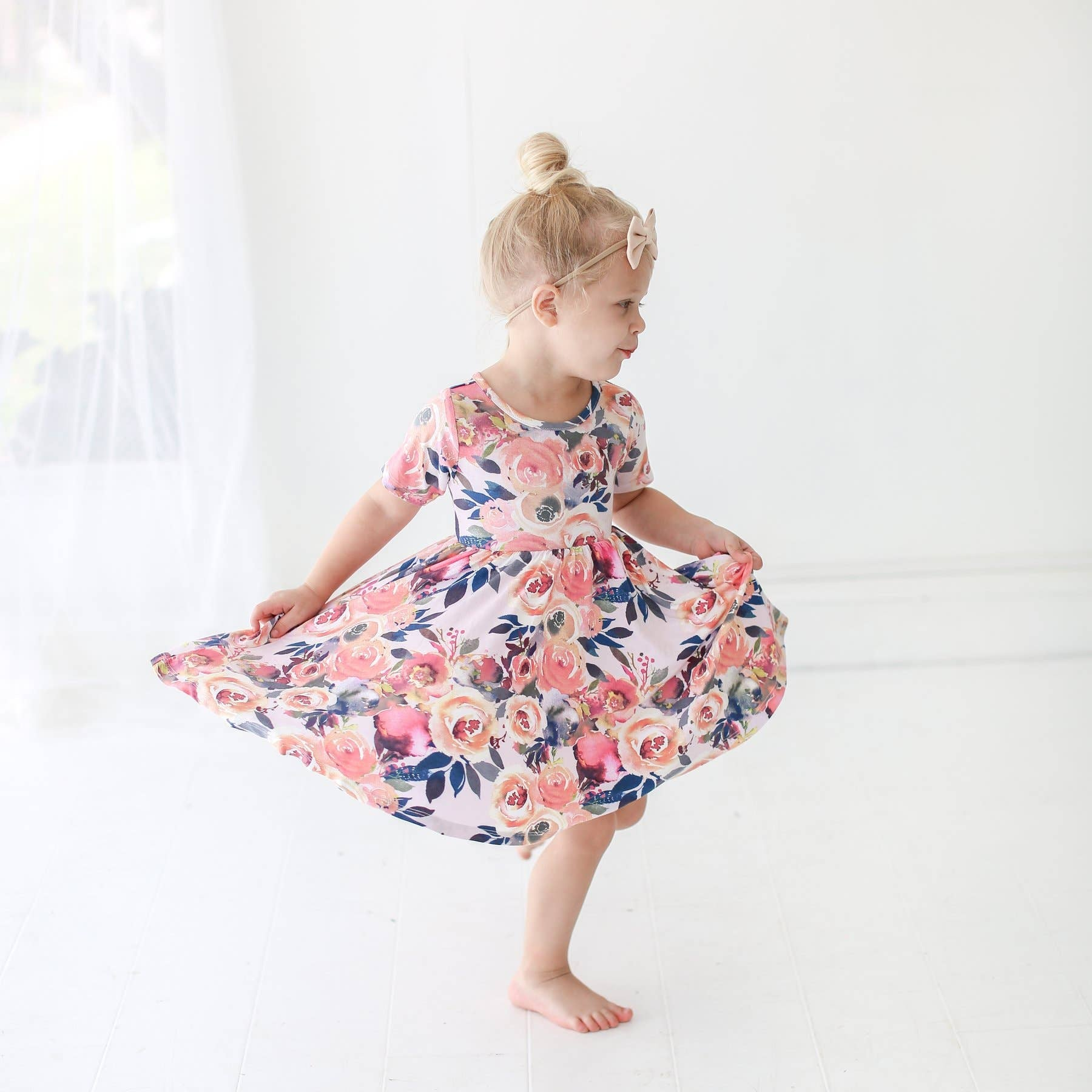 Dusk Rose Twirl Dress