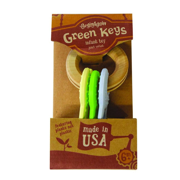 BeginAgain - Green Keys Clutching and Teething Toy
