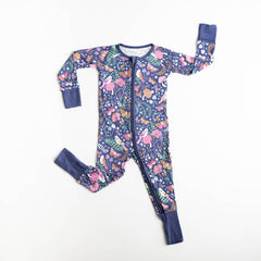woodland magic bamboo zip romper/sleeper
