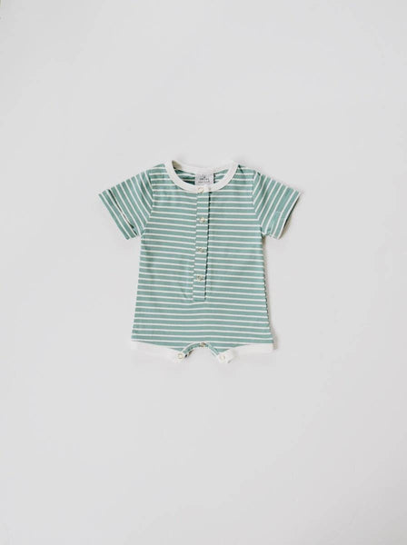 ocean stripe shortie romper - last one! 12/18M
