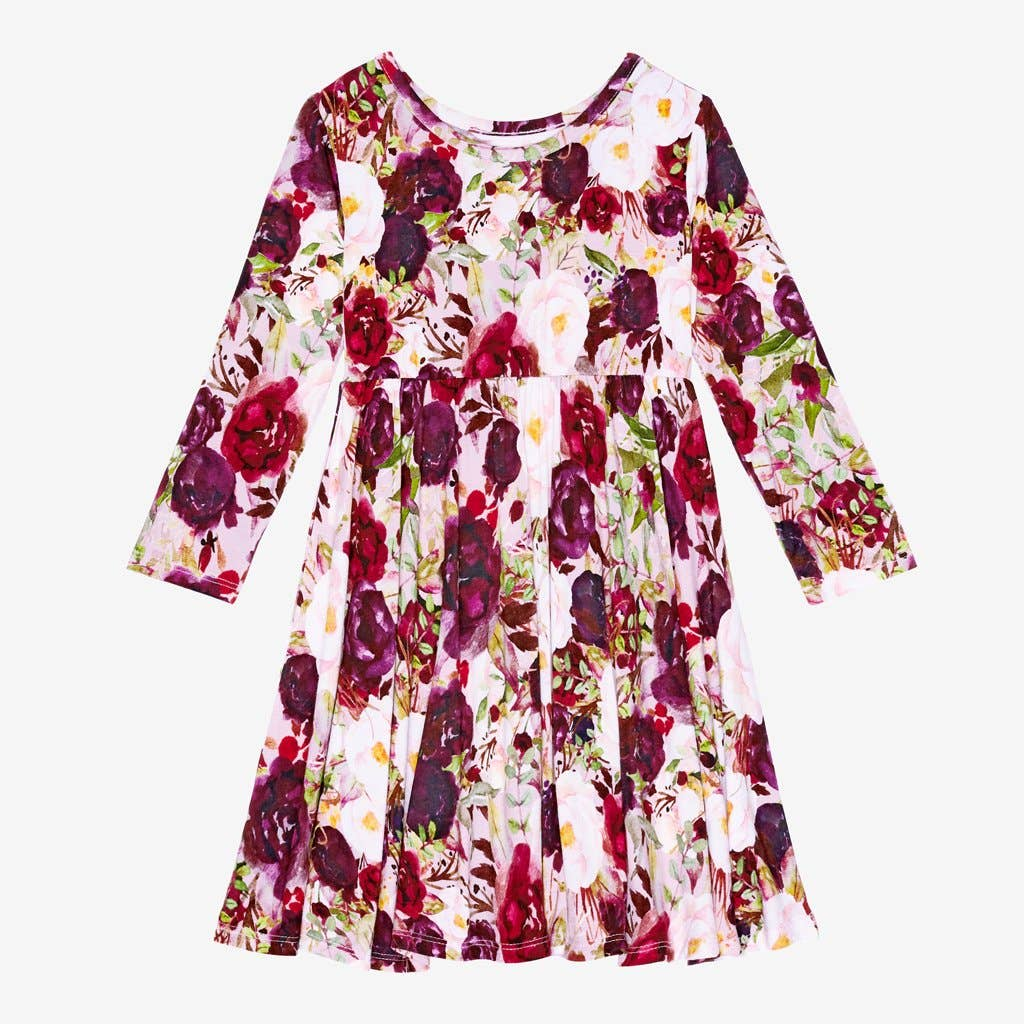 Gracie Floral Long Sleeve Twirl Dress