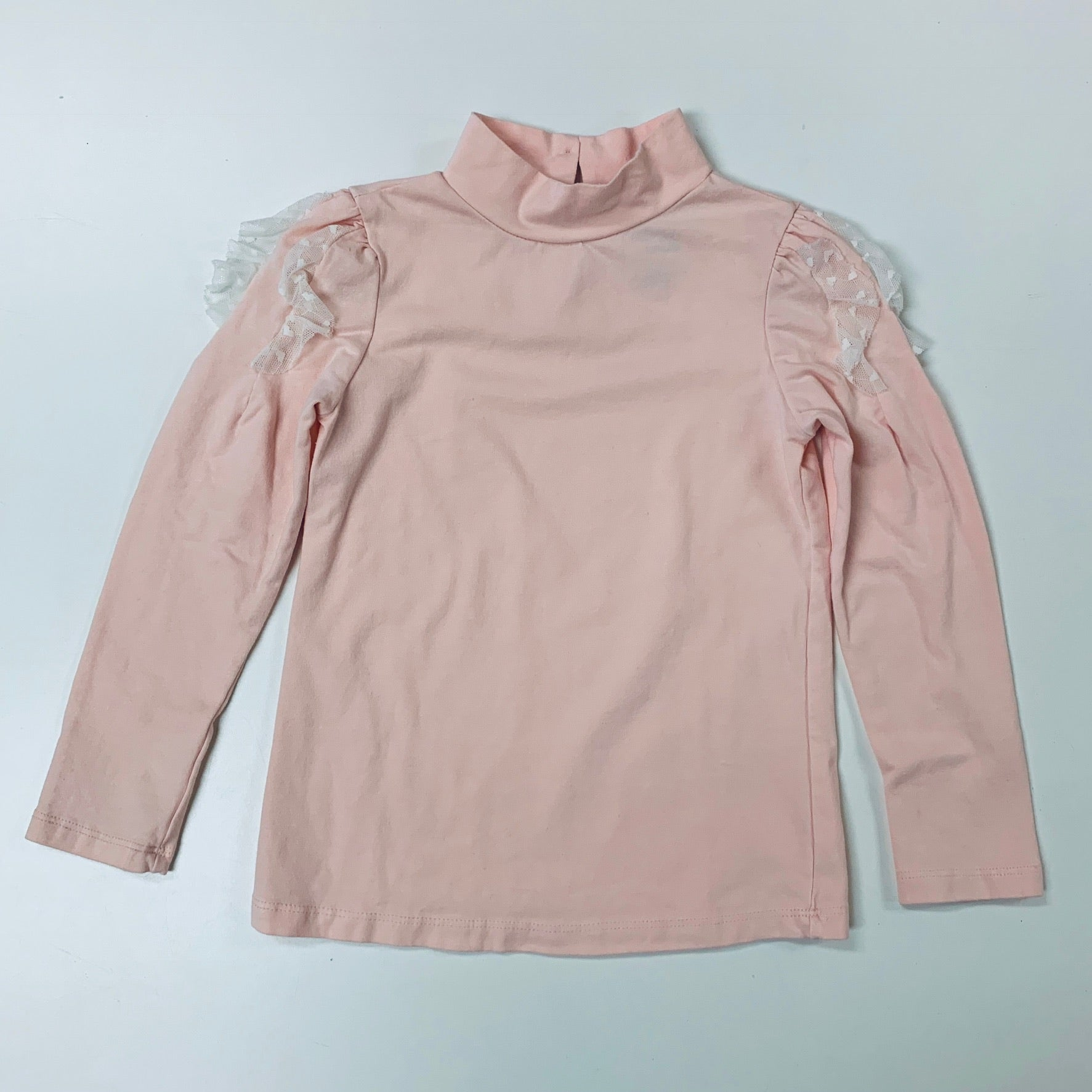 Mandy l/s lace top- blush