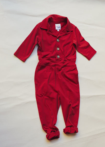 Sadie Flightsuit x Red