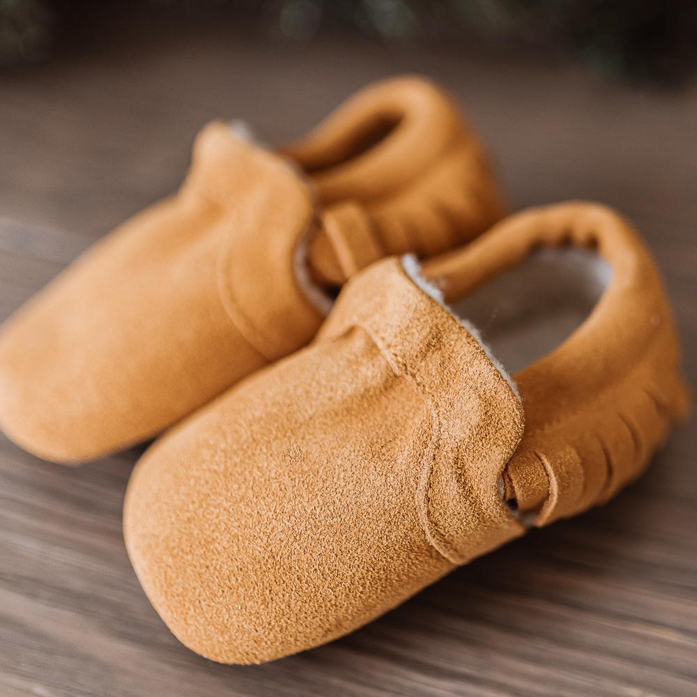 Brown Suede Moccasin with Weatherproof Soft Sole