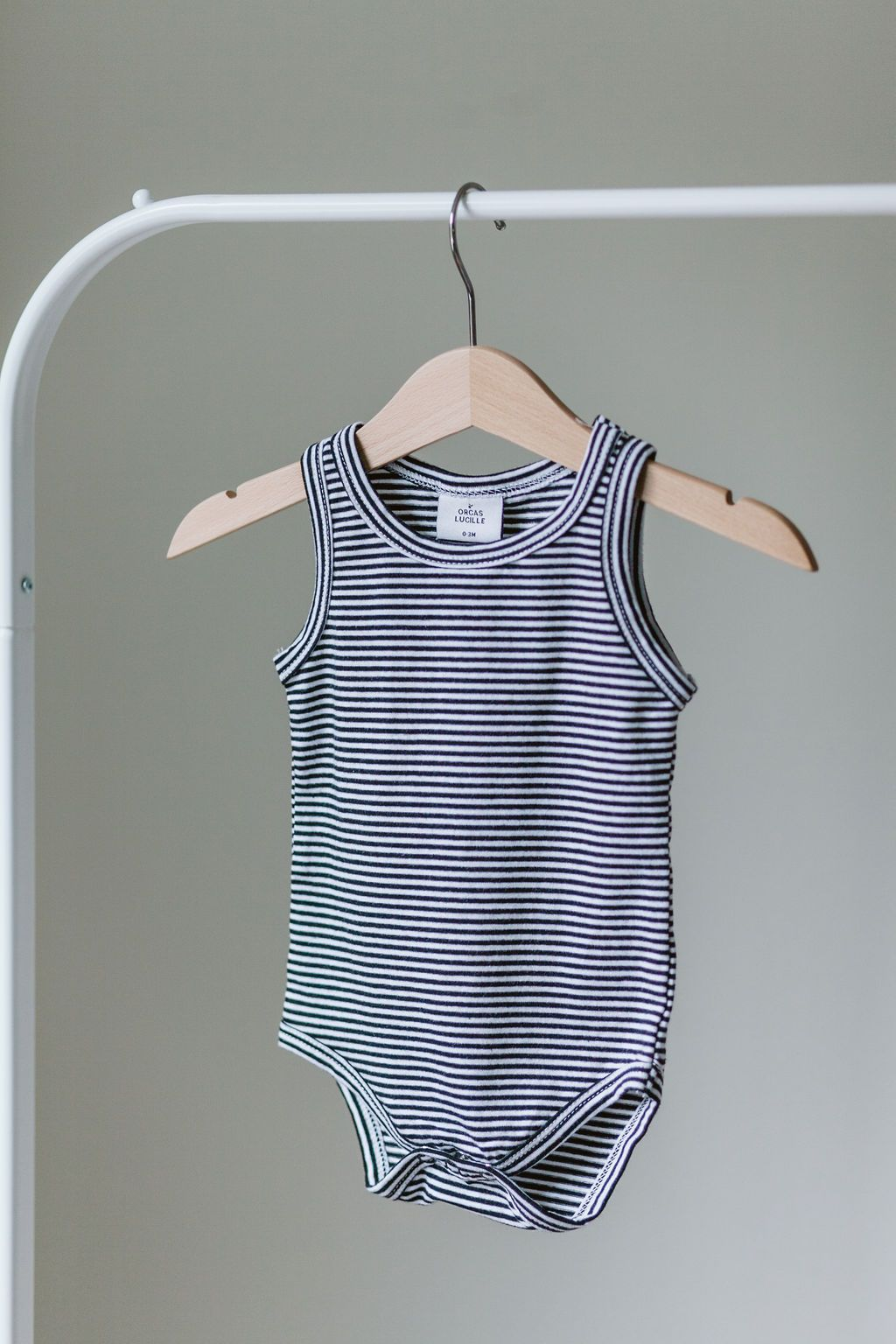 black & white stripe tank bodysuit