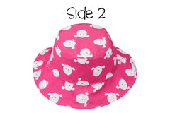 Reversible Baby Sun Hat – Kitten | Lamb