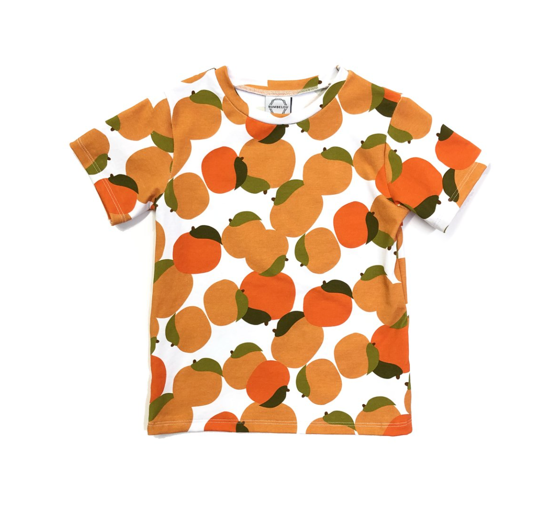orange field tee- last one! 2T