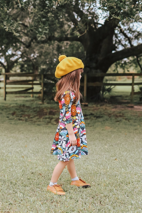 Fall Floral Twirl Dress