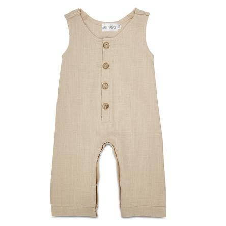 Oatmeal Linen Long Romper- last one! 6/12M