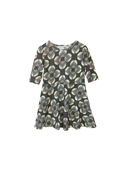 Grey Circles Twirly Dress