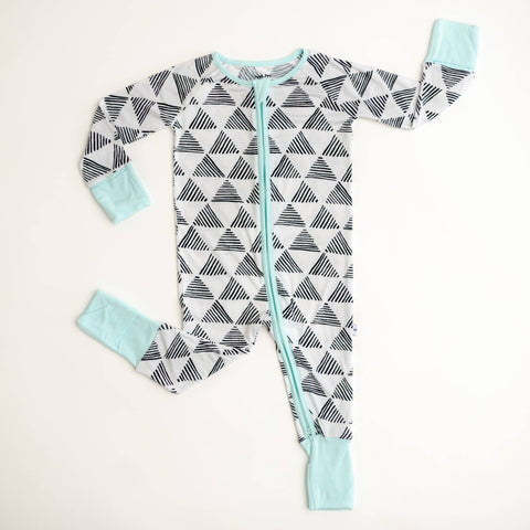 triangles convertible zip romper/sleeper