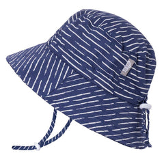 Navy Waves Cotton Bucket Hat