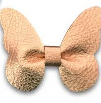 metallic rose gold leather butterfly headband or clip