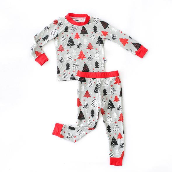 Christmas trees 2 pc bamboo pajama set
