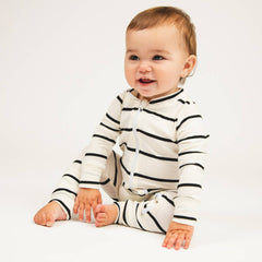 bamboo convertible footie - stripe
