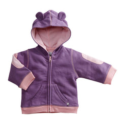 Basic Bunny Ears Fleece Hoodie- eggplant- last one! 6/12M