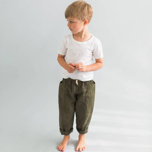 Treasure Pants - Forest Green - last size! 4T