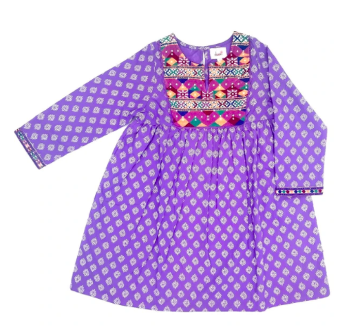 Joya Banjara Dress - Violet
