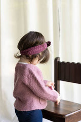 Plum Dot Knot Headband