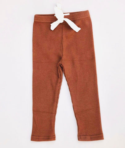 Ribbed Pants - rust