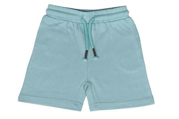 pool blue knit jogger short