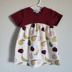 organic fruits gathered dress