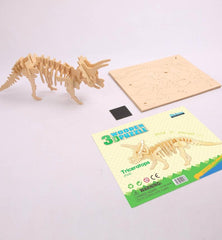 3D Wooden Puzzle: Triceratops