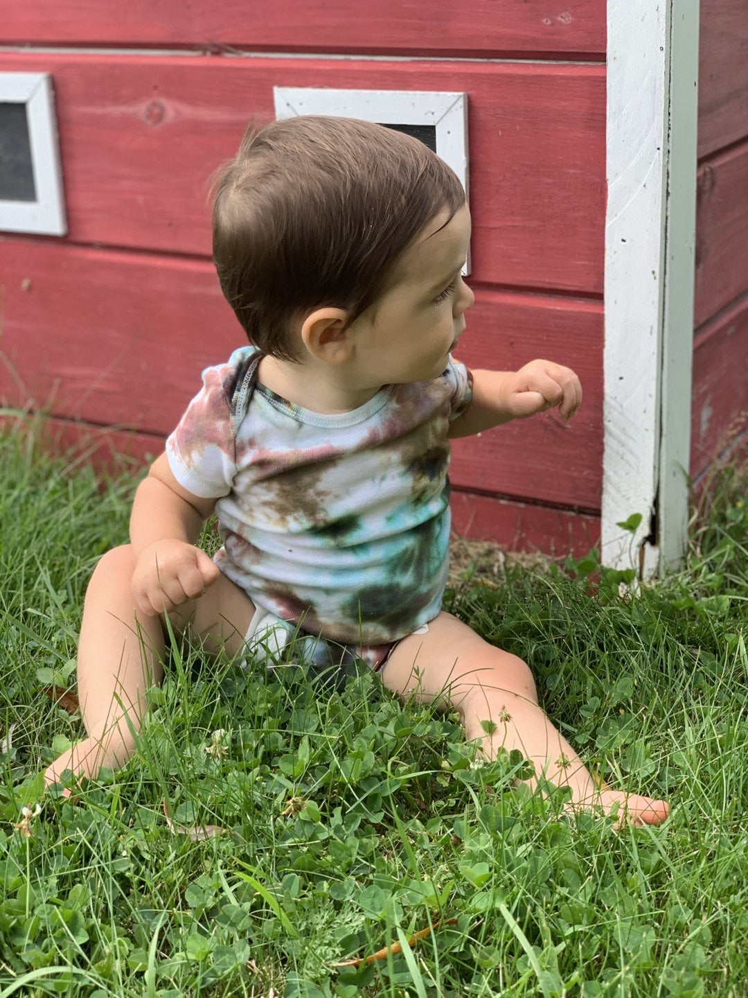 Multi-Colored Ice Dyed Onesie