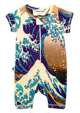 great wave zip romper