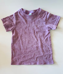purple triblend tee
