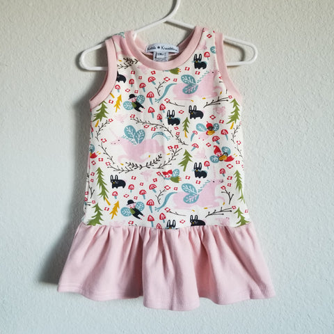 organic unicorn gathered tank dress