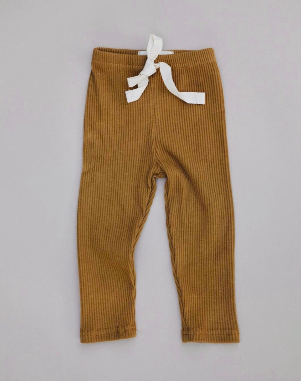 Ribbed Pants - gingerbread