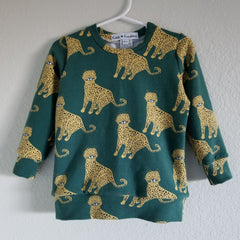 organic green leopards sweatshirt
