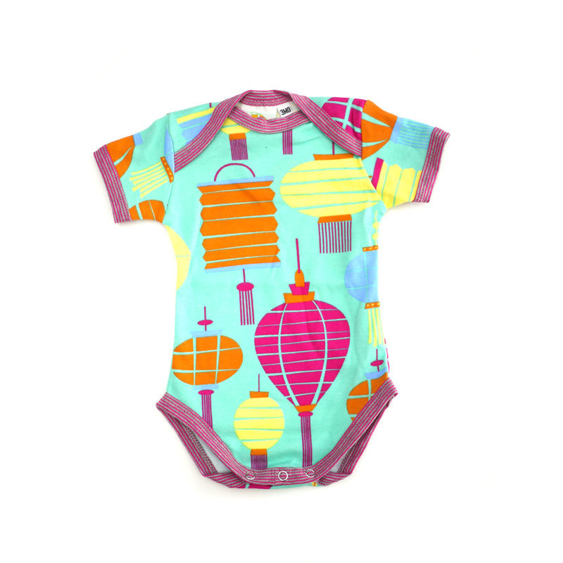 Lanterns Short Sleeve Bodysuit bodysuits Kumquat