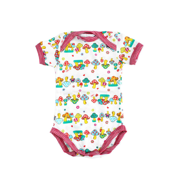 Organic Mushrooms Sleeve Bodysuit