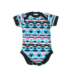 Triangle Stripes Short Sleeve Bodysuit