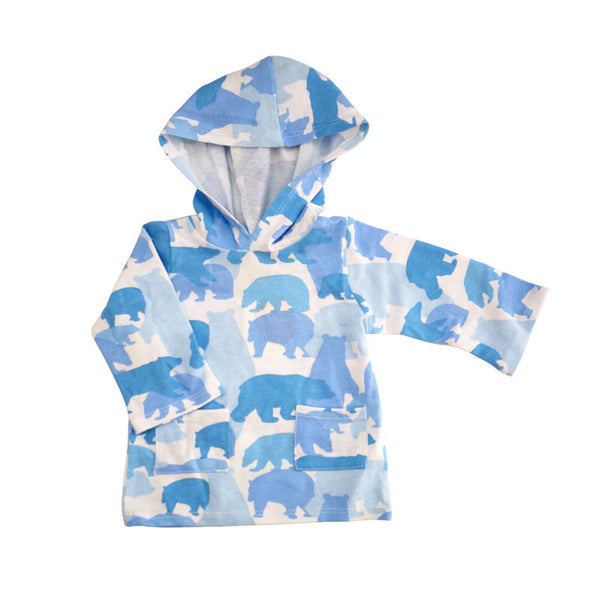 Bear Camo Hooded Pullover