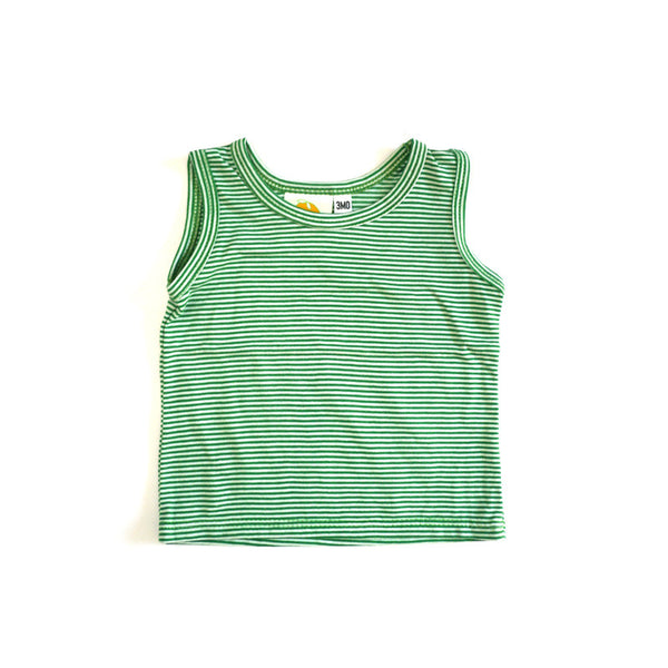 Green Mini Stripe Tank