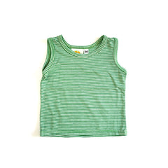 Green Mini Stripe Tank tops Kumquat