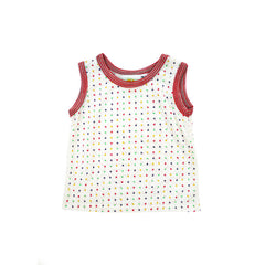 Lollipop Dot Tank tops Kumquat