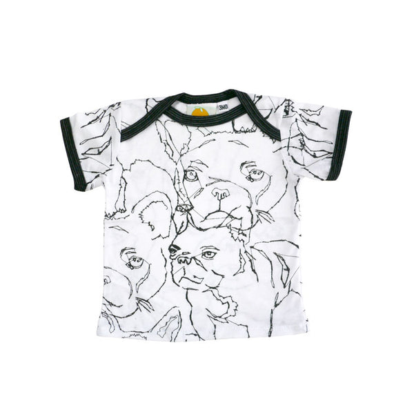 Frenchie Short Sleeve Lap Tee