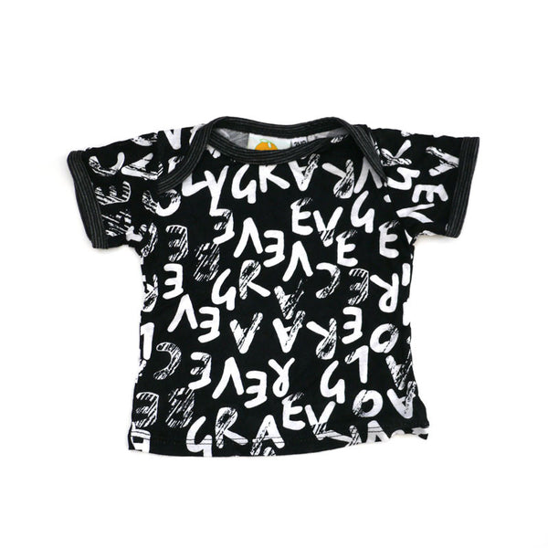 Letters Short Sleeve Lap Tee- last one! NB