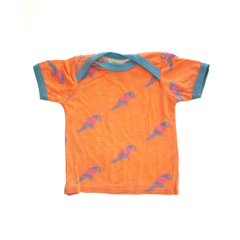 Parrot Short Sleeve Lap Tee tops Kumquat