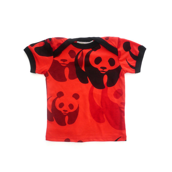 Red Panda Short Sleeve Lap Tee